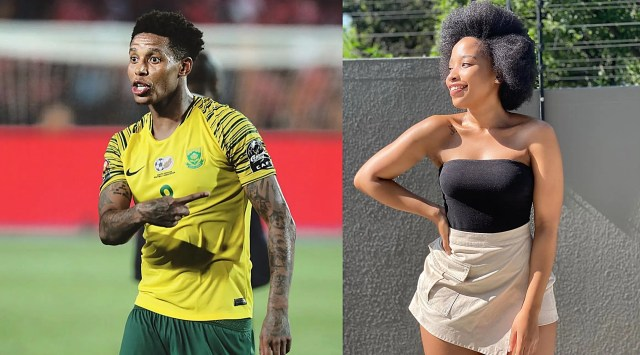 Cindy Mahlangu and Bafana Bafana star, Bongani Zungu