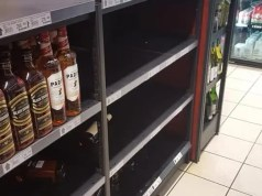 Expensive bottles of alcohol stolen