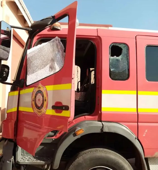 Firefighters petrol-bombed and stoned while responding to emergencies
