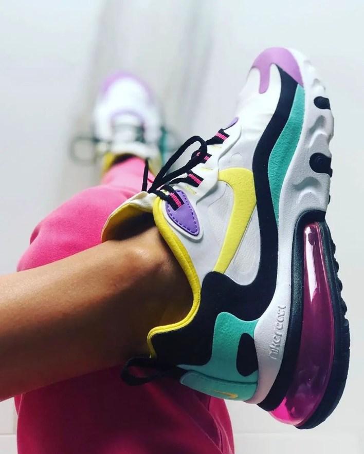 Nike feet up