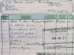 OR Tambo invoice