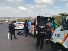 One critical after falling off the back of a bakkie