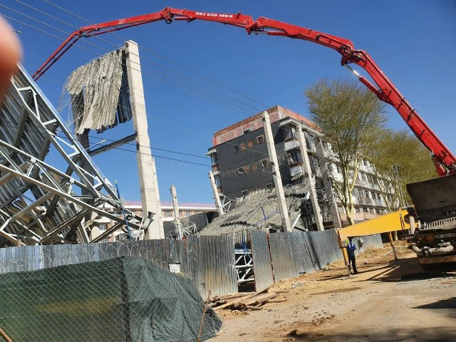 Structural collapse kills one