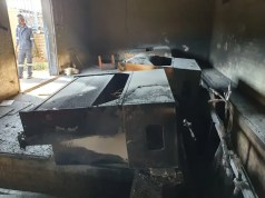 The burnt out substation that left residents without power in Alexandra