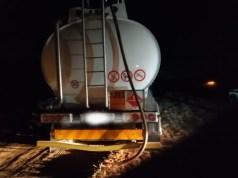 stealing diesel fuel tanker