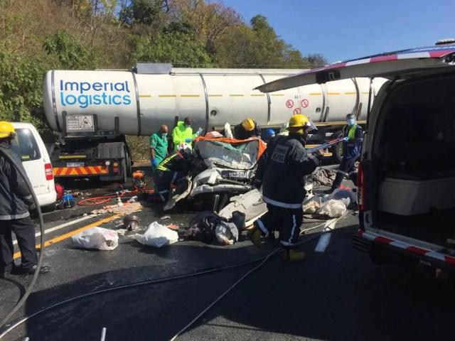 truck slams head on