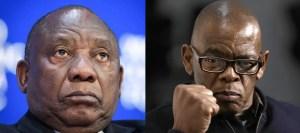 Ace Magashule and Ramaphosa