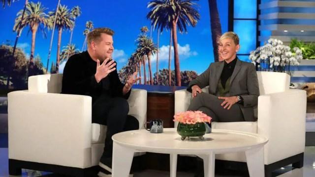 James Corden and Ellen