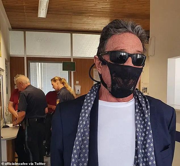 John McAfee thong mask