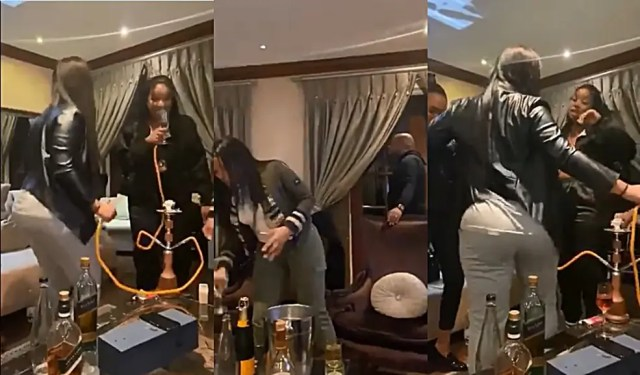 Kaizer Chiefs manager Bobby Motaung partying