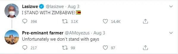 Lasizwe slapped in the face