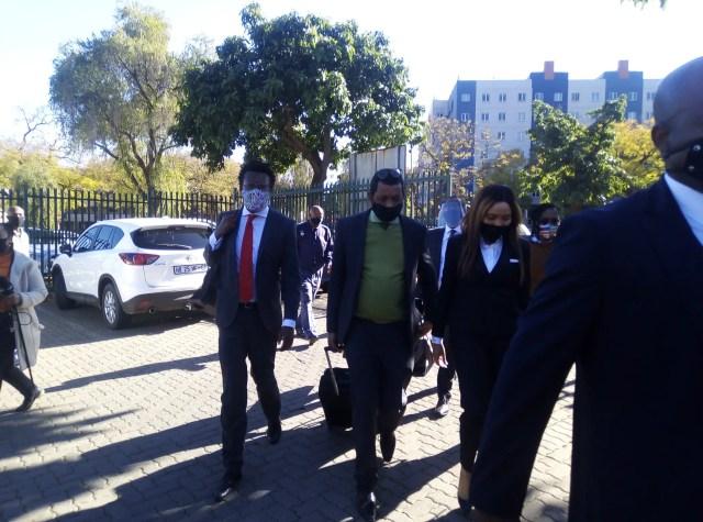 Norma Gigaba aka Mrs Gigabyte arriving at court