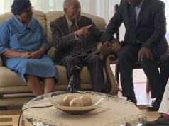 President Ramaphosa with John Nkadimeng