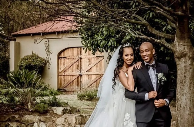 Theo Kgosinkwe and girlfriend Vourné tie the knot
