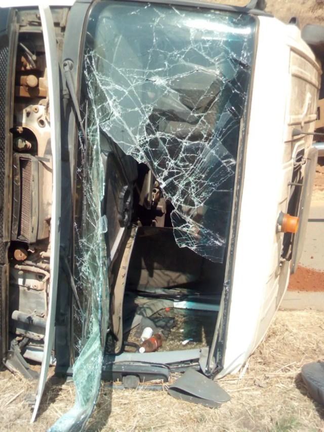 Truck driver injured