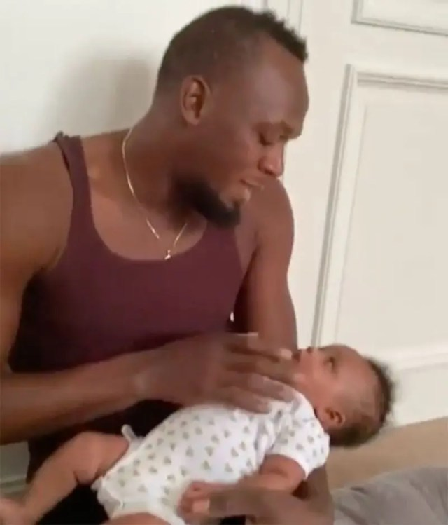 Usain Bolt and daughter