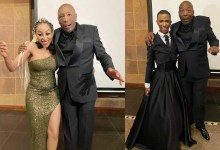 Photo of Khanyi Mbau and Lasizwe's father Menzi Mcunu has died