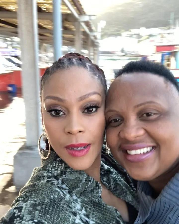 Letoya Makhene and her Bae