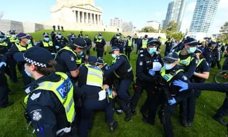 Melbourne anti-lockdown protest