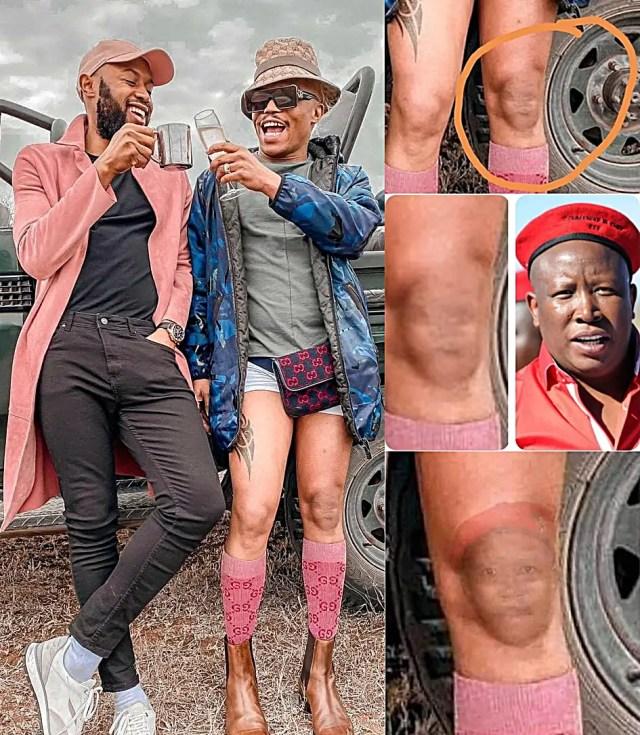Somizi's knee causes chaos on Social Media