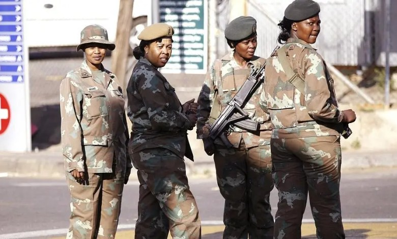 South Africa army soldiers