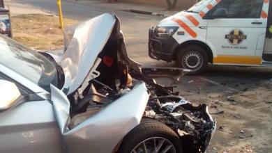 Two injured in Randburg collision