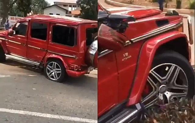 Young man crashes G-Wagon he rented trying to impress his Crush