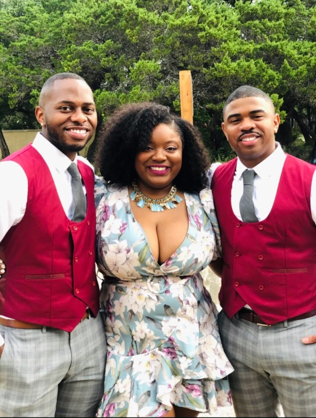 Woman shows off her 2 husbands