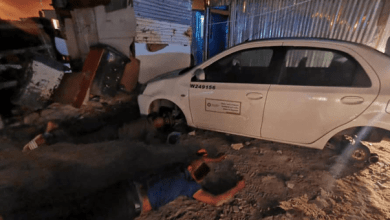 men caught stripping government car vehicle