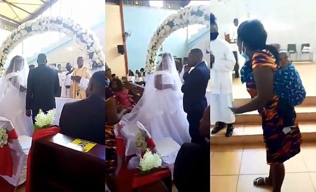 woman catches her cheating husband marrying a side chick