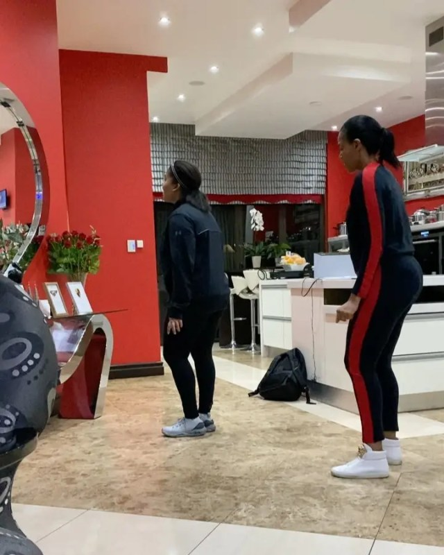Connie Ferguson and her daughter Alicia show off their adorable dance moves