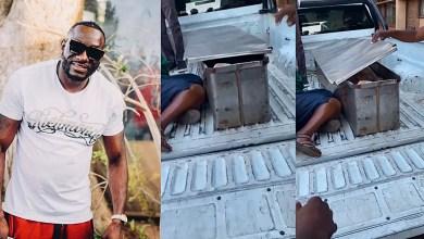 Ginimbi's body inside police coffin