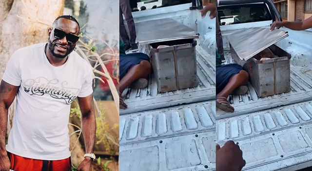 Ginimbi's body inside police coffin