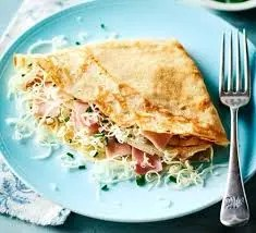 Ham and cheese pancakes
