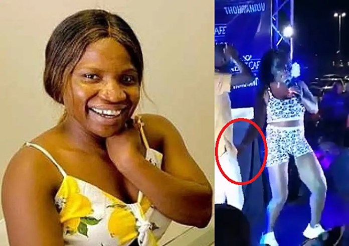 Makhadzi in hot soup for s.e.xually assaulting a male fan on stage – Video