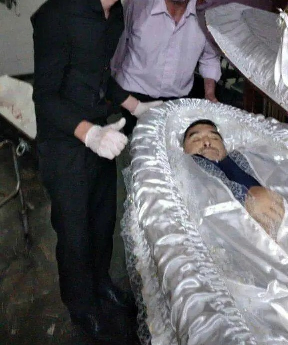 Maradona Coffin open