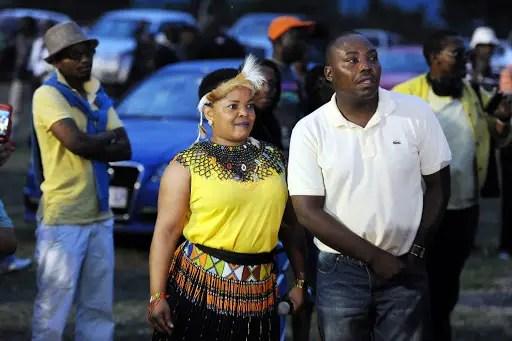 Rebecca Malope and Themba Tshabalala