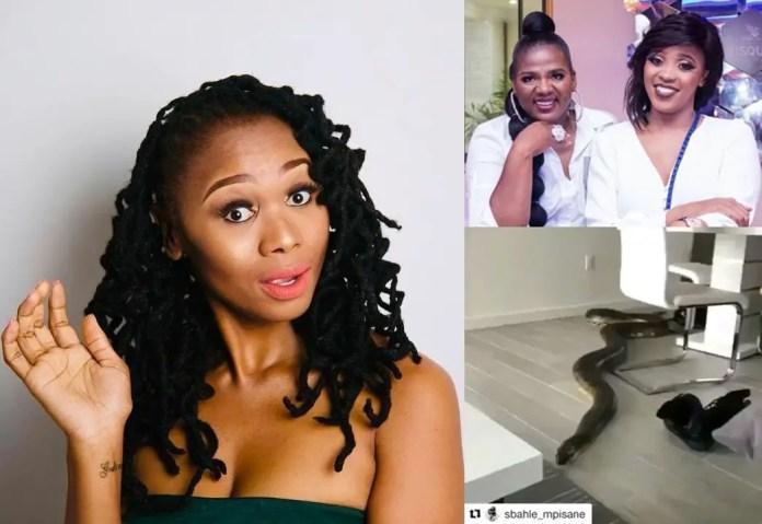 Shauwn Mkhize daughter Sbahle responds to Jackie Phamotse