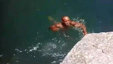 Child helplessly records father drowning