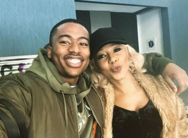 Kelly Khumalo and Jesse Suntele