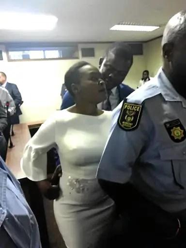 Prophet Bushiri and Mary at police station