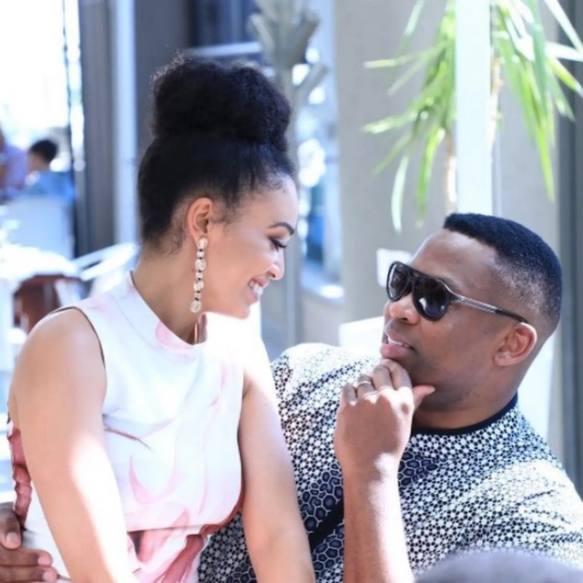 Robert Marawa and Pearl Thusi