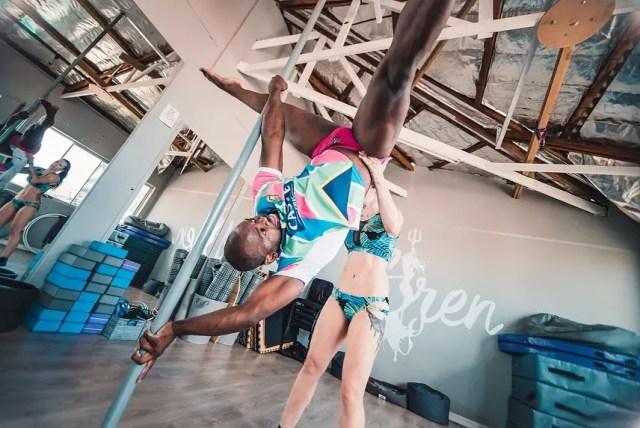 Siv Ngesi now a pole dancer