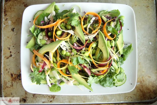 Sesame-honey chicken salad