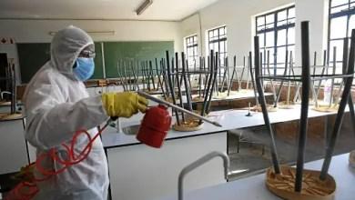 disinfecting schools in Gauteng