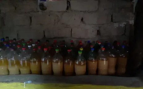 illegal liquor concoctions and over 300 litres of this illicit brew
