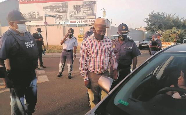 Drama as motorist tries to flee police