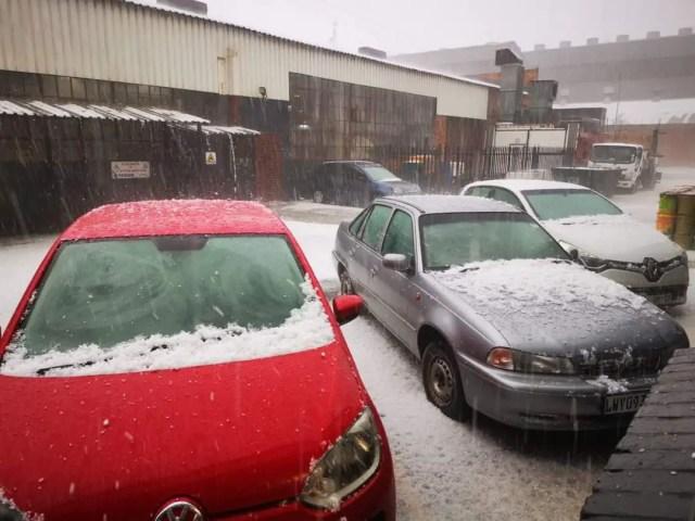 Hailstorm wreaks havoc in Gauteng