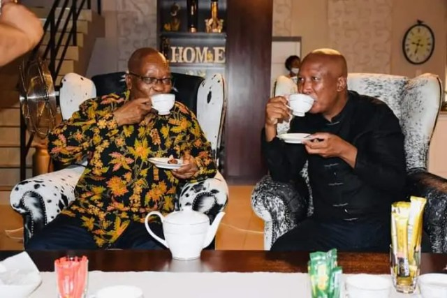 Inside Jacob Zuma and Julius Malema tea meeting at his Inkandla home