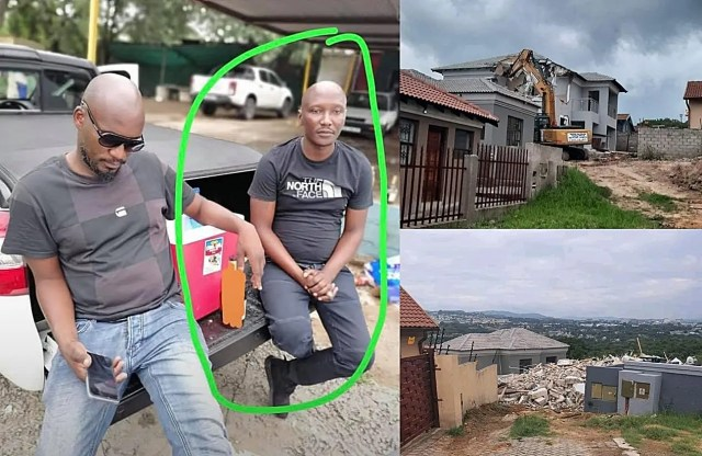 Meet the alleged Man who hired bulldozer to demolish cheating girlfriend's house